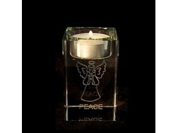 Feng Shui - ingel klaastahukas - teeküünlaalus - Rahuingel - VIIMANE - SUUR ALLAHINDLUS